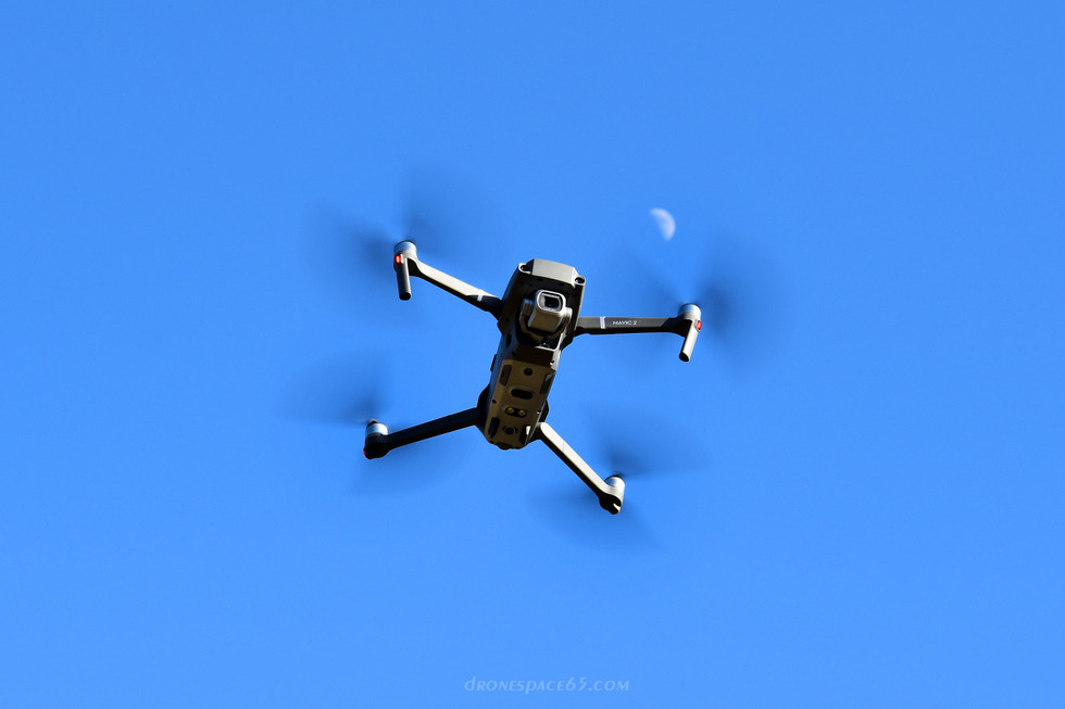 Drone Mavic 2 Pro et la Lune