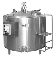 Dome Top Pasteurizer with Ladder & Recor
