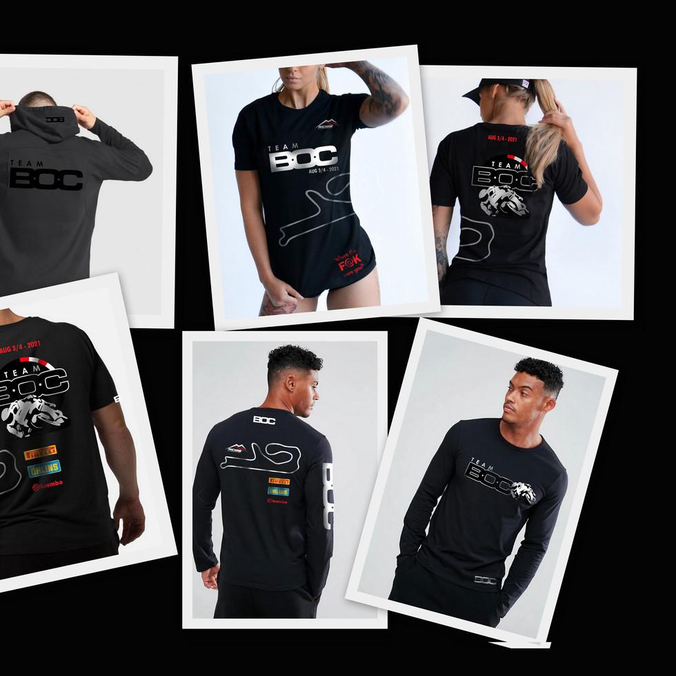 Various BOC Tshirts