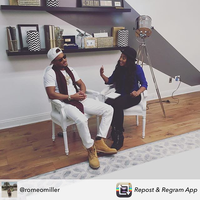 #Repost _RomeoMiller_ Great interview today for my cover shoot! We talked about my new films, shows,