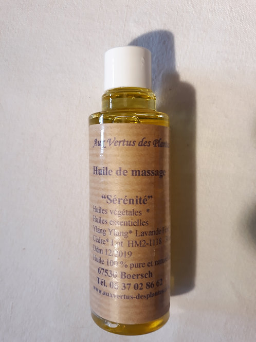 """Huile de massage """"Sérénité"""" 30ml"""