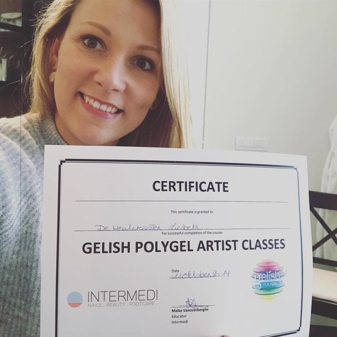 Got my Polygel Certificate!