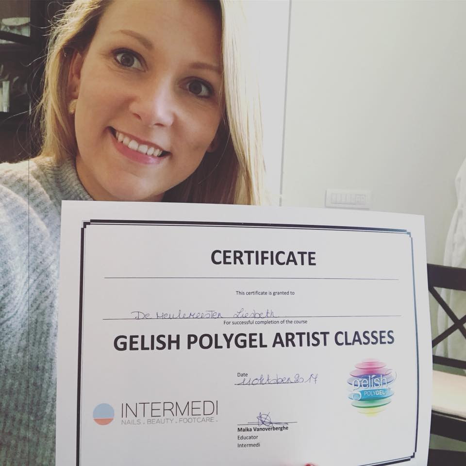 Certificate Gelish Polygel artist classes