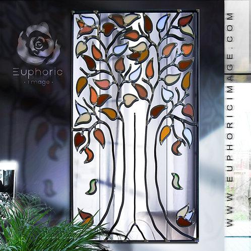 Portrate Lead Overlay Tree Mirror 46 x 76 cm