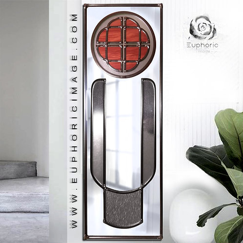 Celtic Design lead overlay stained glass mirror 16 x 46 cm.