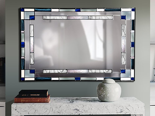 Stained glass Mantle mirror measuring