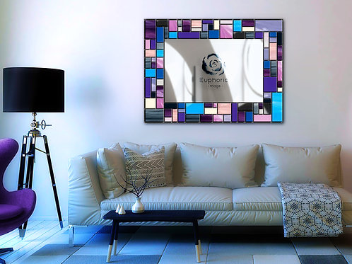 Mosaic Design Lead Overlay Stained Glass Mirror