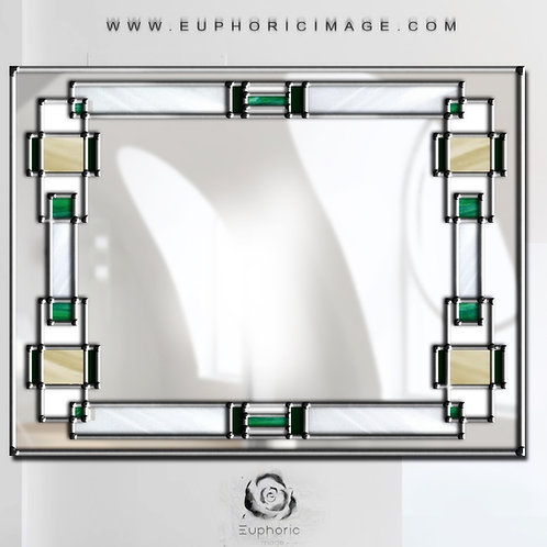 Stained glass Mantle mirror