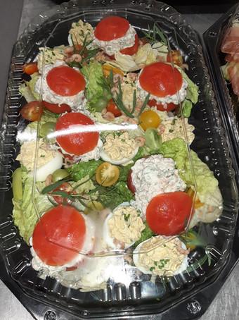 tomaat garnaal onder deksel