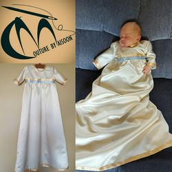 Baptism outfitt from mother weddi