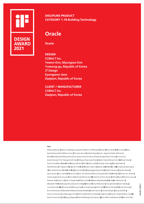 iF Design Award Certificate Oracle.PNG