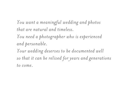 Meaningful Statement for El Paso Wedding Photography