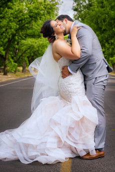 El Paso Wedding Country Road Kiss
