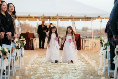 Los Portales Wedding Flower Girls