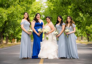 Bride and Bridesmaids Country Road El Paso