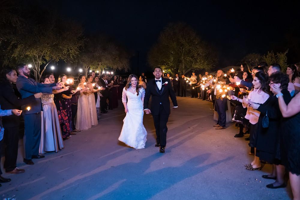 El Paso Wedding Photography Sparkler Exit Los Portales