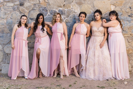 Bridesmaids Posing El Paso Wedding Photography