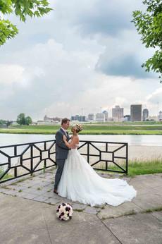 Wedding Kiss on the River
