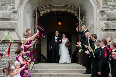 Bride and Groom Streamer Send Off