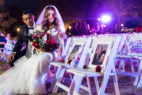 Bride and Groom Honoring Family
