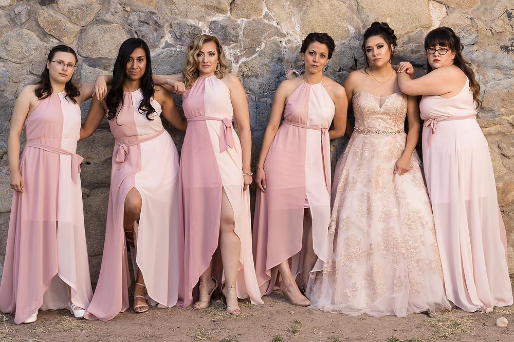 El Paso Wedding Photography Bride with Bridesmaids