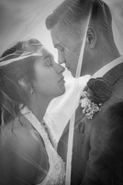 Veil Covered Kiss El Paso Wedding Photography