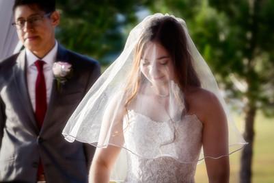 Grace Gardens Bride Exchanging Vows