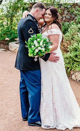 Bride and Groom at Heritage Botanical El Paso, Texas
