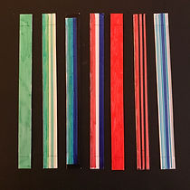 Step 1_ colouring of paper strips