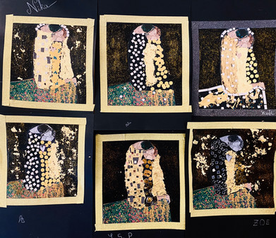 Stay gold with the Kiss by Gustav Klimt