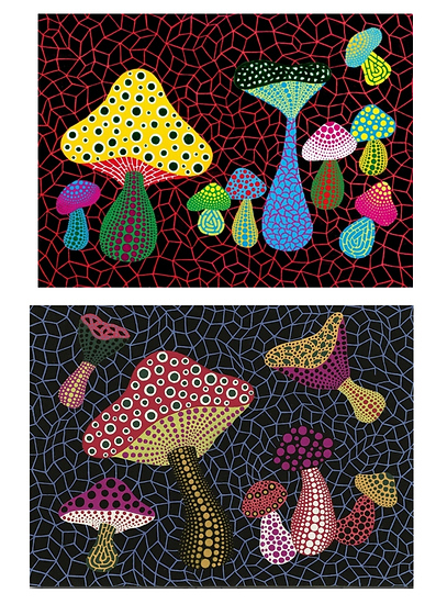 Yayoi Kusama Mushrooms