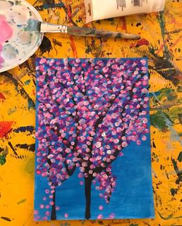 D.Hirst Cerisiers en Fleurs 1