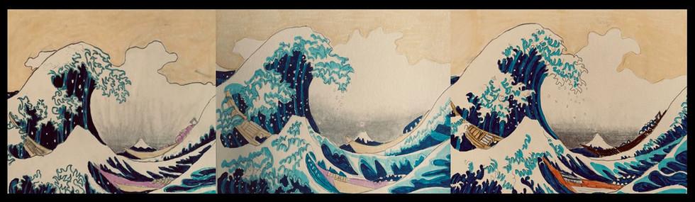 the great Wave of Kanawaga by Hokusai