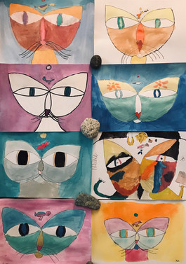 Cats and Bird, Paul Klee
