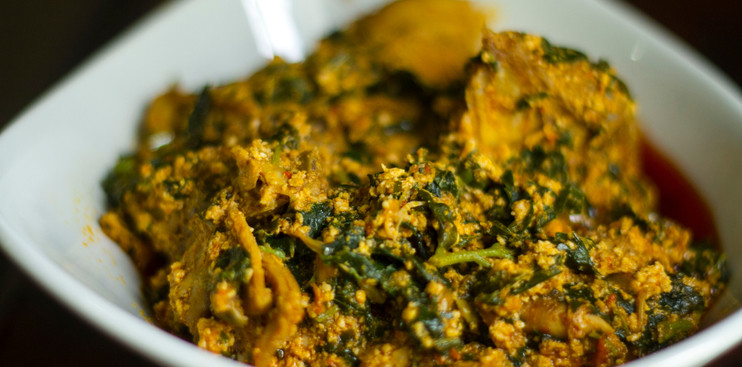 A bowl of Egusi soup
