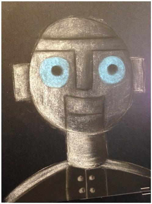 Chalk Pastel Robots - June 15