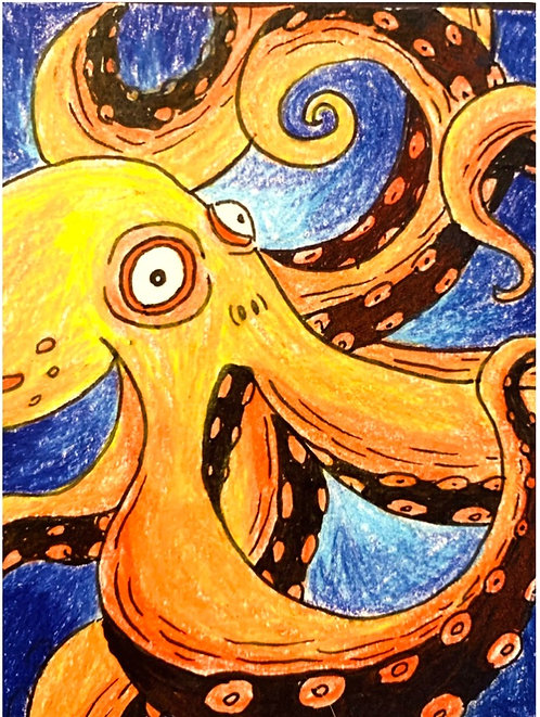Octopus Drawing - April 20