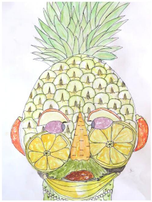 Arcimboldo Fruit & Veggie Portraits - April 21
