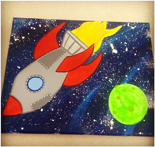 Galaxy Painting with Rocket -April 6