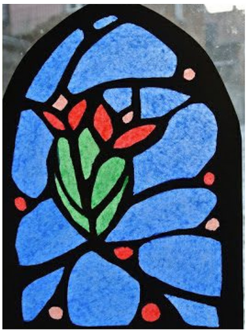 Medieval Stained Glass Window - June 23