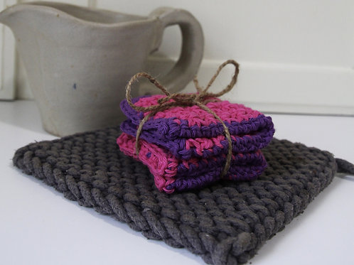 Crocheted Washcloth - 2pk