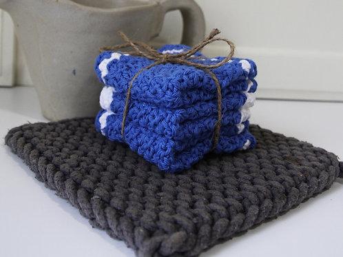 Crocheted Washcloth - 3pk
