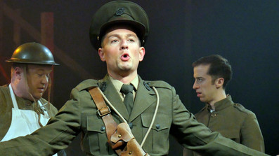 Jonathan as the English Sergeant in Johnny Johnson