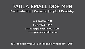 Paula Small DDS, Business Card Back 2