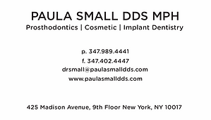 Paula Small DDS, Business Card Back 1