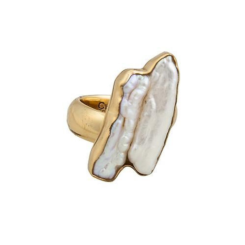 ALCHEMIA BIWA PEARL ADJUSTABLE RING