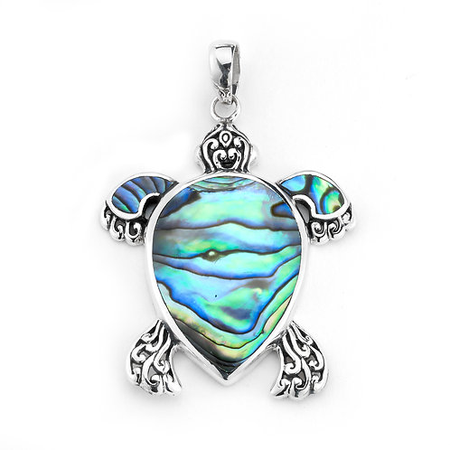 SS ABALONE TURTLE PENDANT