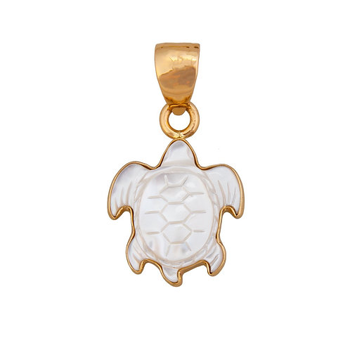 Mother of Pearl Turtle Pendant - S