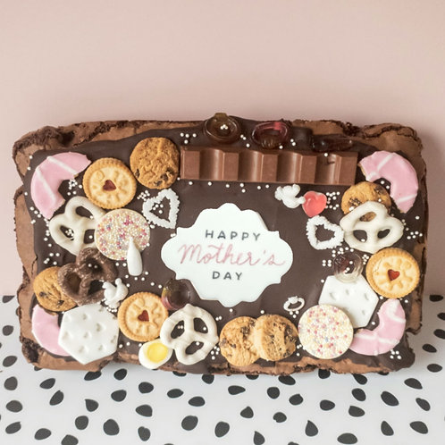 Mothers Day Loaded Brownie Slab