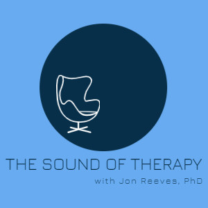 The Sound of Therapy with Jon Reeves, PhD - podcast logo with therapist's chair.